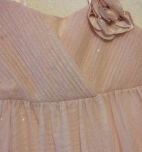 Платье розовое НМ,128 рост