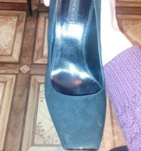 Туфли натуральная замша одеты были один раз