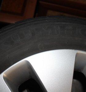 Литые диски на летней резине KUMHO 185/65 R15
