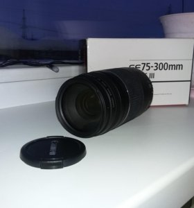 Новый объектив Canon EF 75-300 f4-5.6 lll