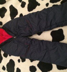 Зимние детские брюки. Размер 116