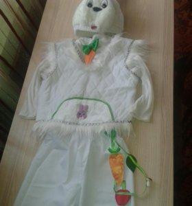 Новогодний костюм зайчика 28 размер