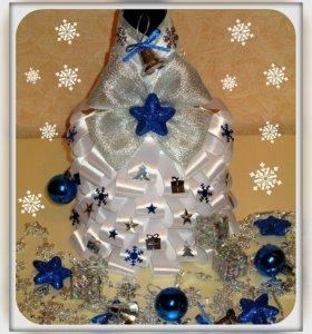 Новогоднее украшение для шампанского