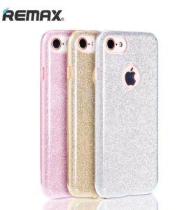 Чехол REMAX © Glitter iPhone 7 (силикон)