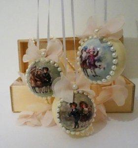 Елочные шары с фотографией