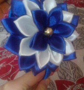 Цветок из атласной ленты своими руками