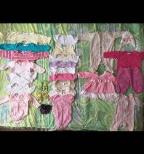 Одежда на девочку до 3 месяцев
