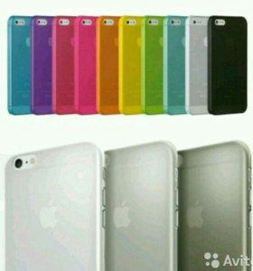 Ультратонкие накладки 0.33мм для iPhone 5S, 6S, 7
