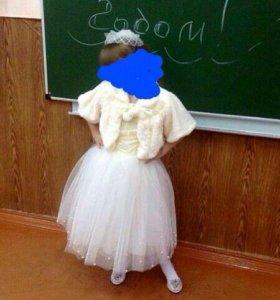 Платье с болеро и шляпкой(возможен торг)