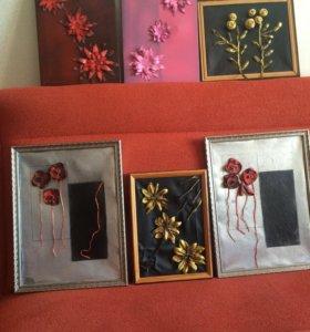 Картины ручной работы из кожи