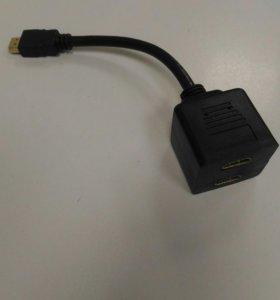 Кабель разветвитель HDMI-M-->F