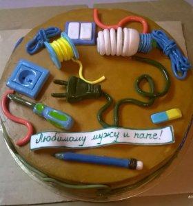 Торт для электрика. Выпечка на заказ