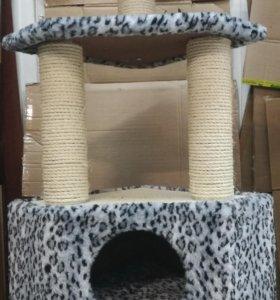 Домик для кошки, когтеточка, игровой комплекс