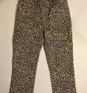 Леопардовые джинсы д/д р-р 3(на 2-3года)