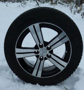 Зимние колеса 205 55 16  данлоп на Митсубиси