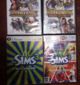 Компьютерные диски с играми sims ( симс )