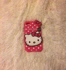 Чехол силиконовый Hello Kitty iPhone 4/4s