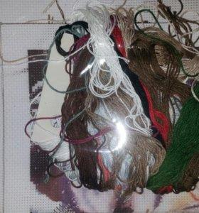 Вышивка крестиком, набор вместе с нитками