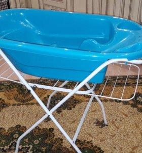 Ванночка с подставкой + сиденье в ванну