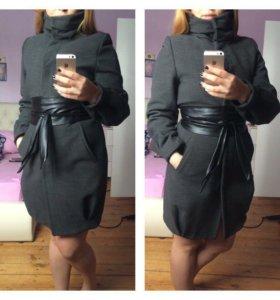 Пальто, утепленнное, кашемировое