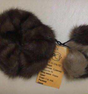 Резинка для волос из меха норки