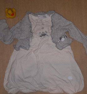 Платье и болеро р.68