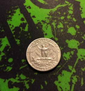 Монета quarter dollar 1965г liberty