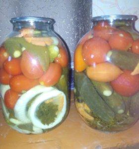 Доставка!Огурцы,помидоры,ассорти