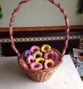 Игольница-пончик