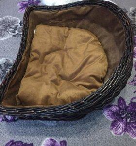 Лежак для животных из плётеного ротанга