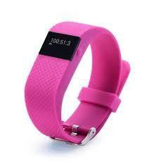 Фитнес браслет трекер (розовый). Новый