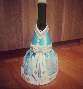 Украшение на бутылку