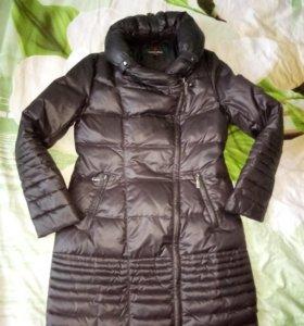 Теплое пальто 46-48р