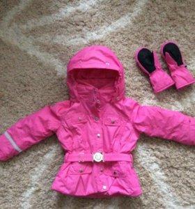 Зимняя куртка Poivre Blanc + варежки в подарок