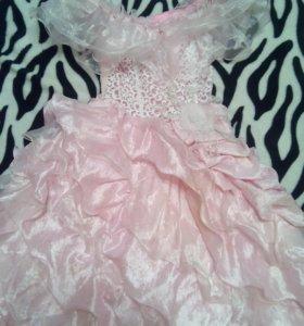 Праздничное пышное платье для девочки 👸 6-8 лет