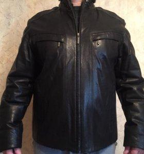 Мужская кожаная зимняя куртка JORG WEBER