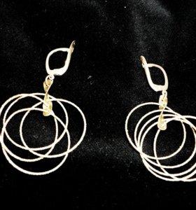 Серьги серебряные кольца