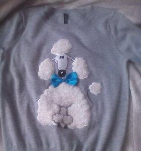 Свитшот с собачкой, свитер, джемпер, кофта