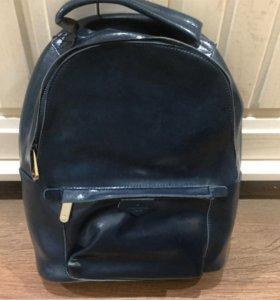 Кожаный рюкзак LV изумрудный
