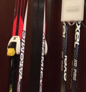 Беговые лыжи Atomic полный комплект