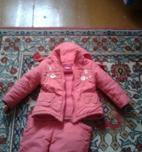 Костюм для девочки куртка и штаны