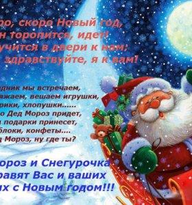 Детские праздники, Дед Мороз и Снегурочка,