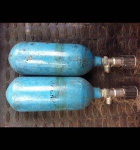 Продам два кислородных болона объём 1 литр