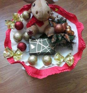 """Букет """"Рождественский олень"""""""