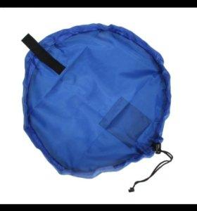 Коврик сумка для конструктора, игрушек
