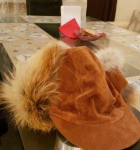 Мужская дубленка и шапка