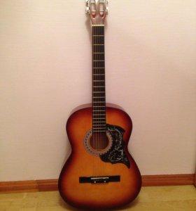 Гитара новая Phil pro вместе с чехлом