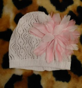 Ажурная шапочка с цветком 36-40