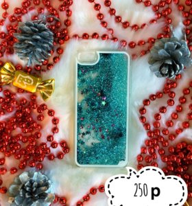 Новый чехол с жидкими блестками на iPhone 5/5s