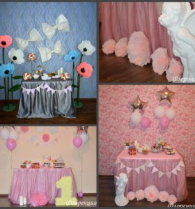Кенди- бар, фотозоны, цветы, цифры ,имена